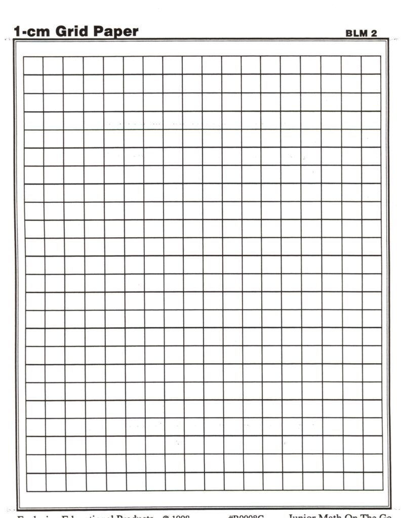 1 cm Grid Paper Template