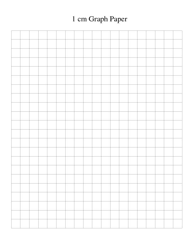 1 cm Graph Paper Template