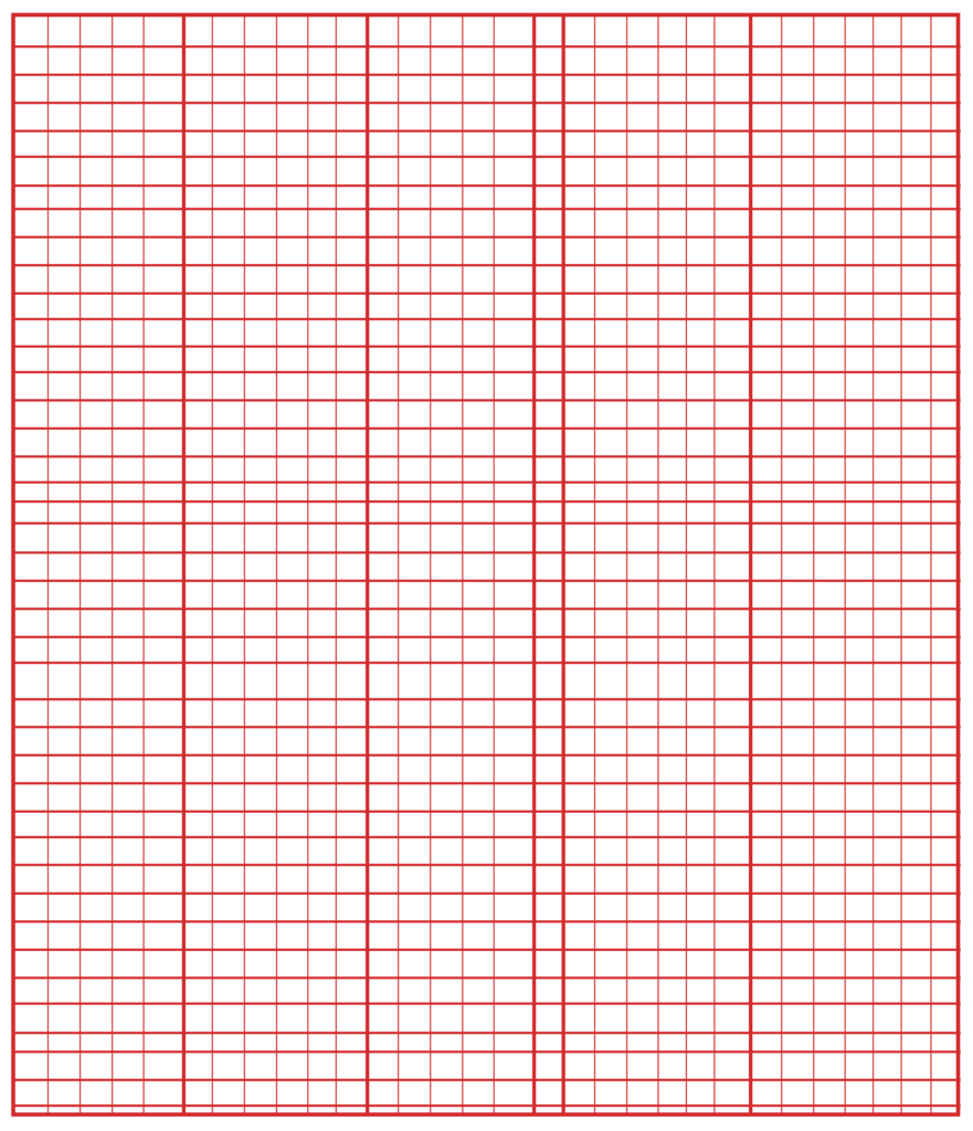 Knitting Grid Paper PDF
