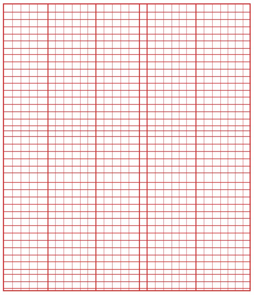 Knitting Grid Paper PDF